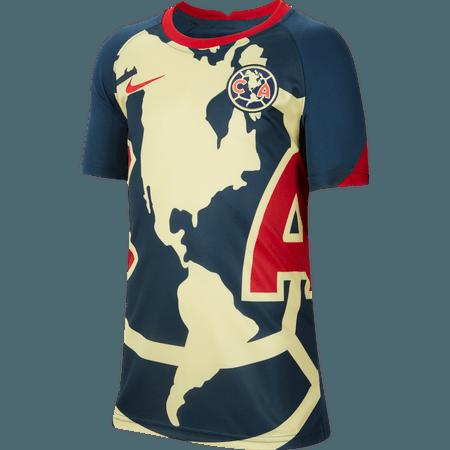 Nike Club América Jersey Oficial de Pre Juego 20-21 para Niños