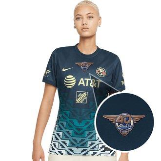 Nike Club América Jersey de Visitante 21-22 para Damas con Parche de 40 años