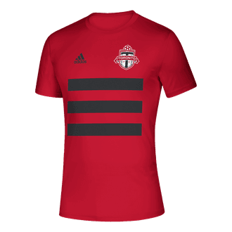 adidas 2021 Toronto FC 3 Stripe Tee