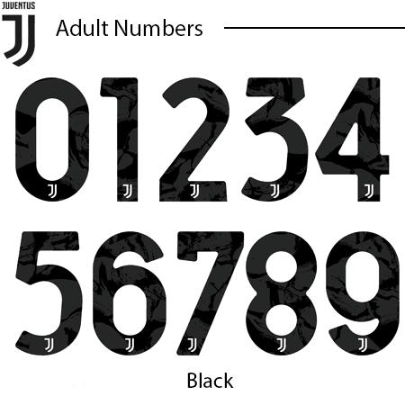 Juventus 20-21 Adult Numbers