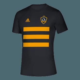 adidas 2020 LA Galaxy 3 Stripe Tee