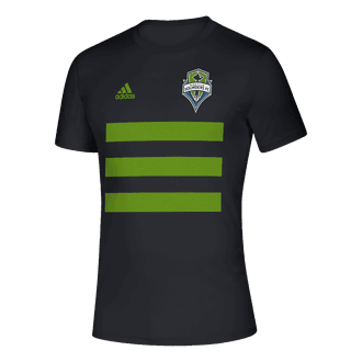 adidas 2021 Sounders 3 Stripe Tee
