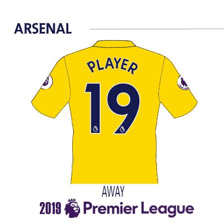 Arsenal 2019 Name Set
