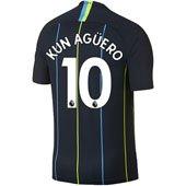 Nike Manchester City Kun Aguero Away 2018-19 Stadium Jersey