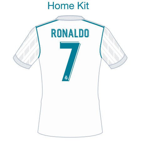 Real Madrid 2017 Adult Name Set Patch