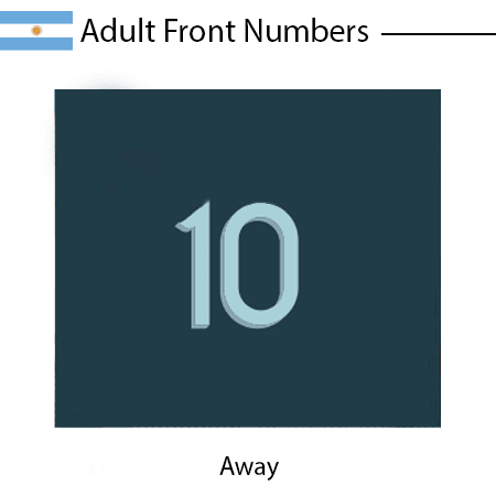 Argentina 2020 Adult Front Numbers