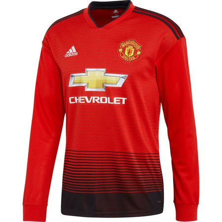 adidas Manchester United Home 2018-19 LS Replica Jersey