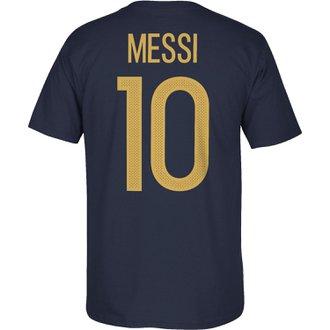 adidas Lionel Messi 10 Argentina Federation Navy Tee