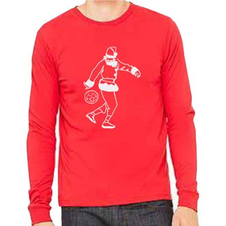 WGS Holiday Red Santa LS Tee