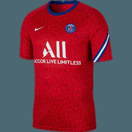 Nike Psg Dry Squad 2020 21 Men S Pre Match Top Wegotsoccer