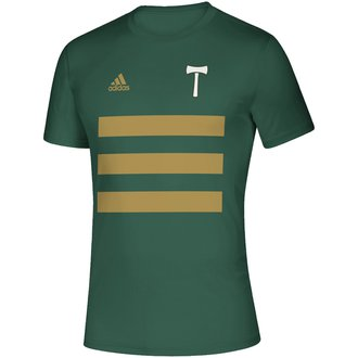adidas 2021 Timbers 3 Stripe Tee