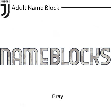 Juventus 20-21 Adult Name Block