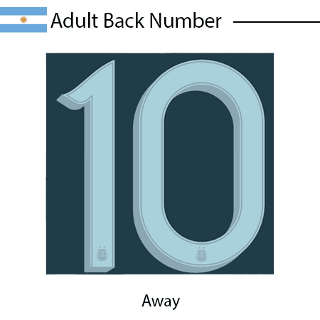 Argentina 2020 Adult Back Numbers