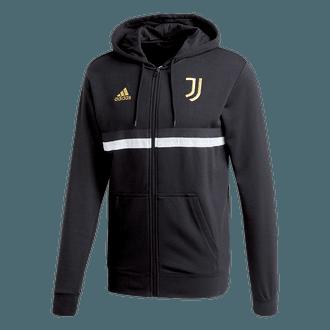 Adidas 2020-21 Juventus 3-Stripes Full-Zip Hoodie