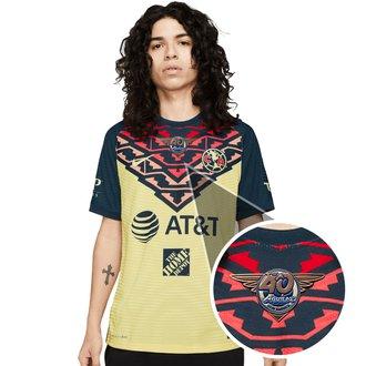 Nike Club América Jersey Auténtica de Local 21-22 con Parche de 40 años