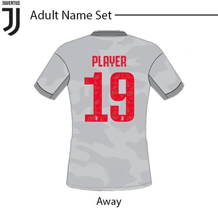 Juventus 2019-20 Adult Name Set