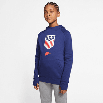 Nike USA Soccer Big Kids Youth Fleece Pullover Hoodie