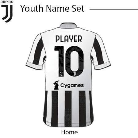 Juventus 21-22 Youth Nameset