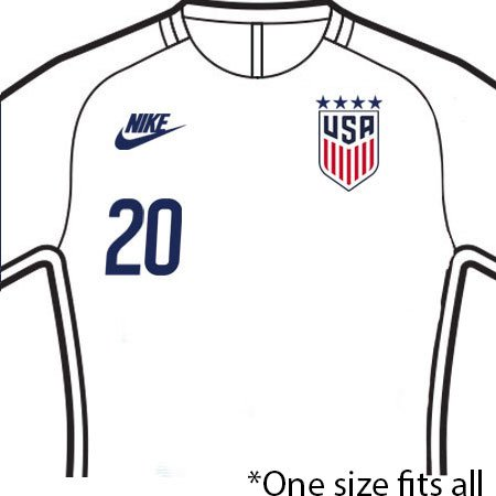 USA 2020 Front Numbers