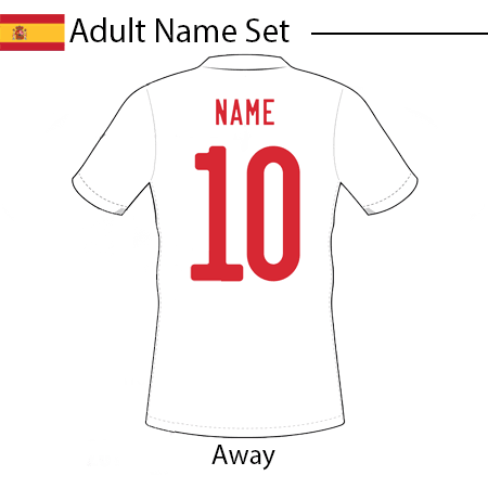 Spain 2020 Adult Name Set