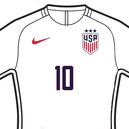 United States 2019 WOMENS Front Numbers