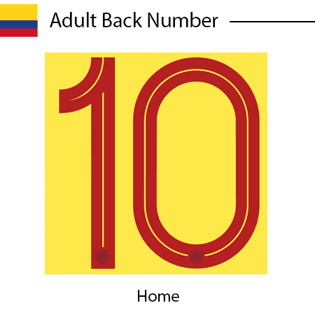 Colombia 2020 Adult Back Numbers