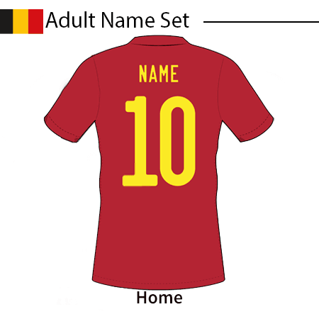 Belgium 2020 Adult Name Set