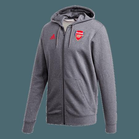 adidas Arsenal 20-21 Sudadera con capucha y cremallera de 3 rayas para hombre