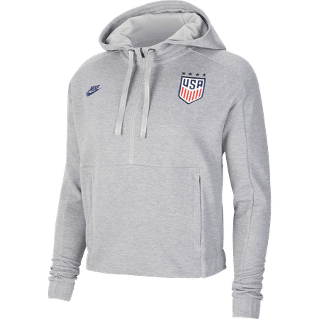 Nike USA 2020 Sudadera con capucha gris corta para Damas