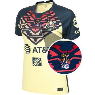 Nike Club América Jersey de Local 21-22 para Damas con Parche de 40 años Cuauhtli