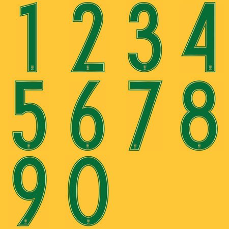 Nike Brazil 2016 Adult Numbers