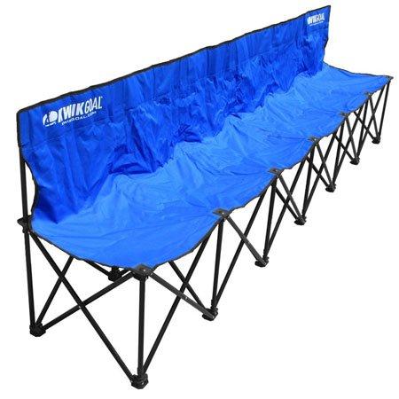 Kwik Goal 6 Seat Kwik Bench Blue