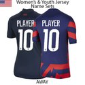 USA 2020 & 2021 Womens and Youth Jersey Set (8in Number)