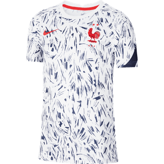 Nike Youth 2020 France Short Sleeve Pre-Match Top