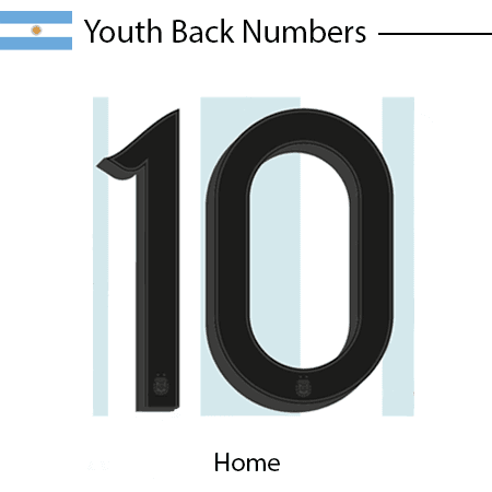 Argentina 2020 Youth Back Numbers