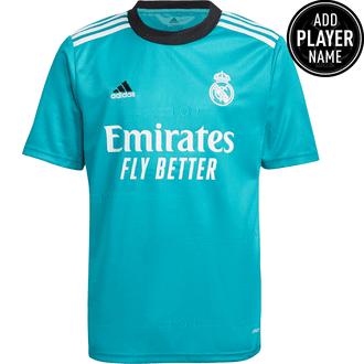 adidas Real Madrid 2021-22 Youth 3rd Stadium Jersey