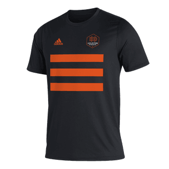 adidas 2021 Houston Dynamo 3 Stripe Tee