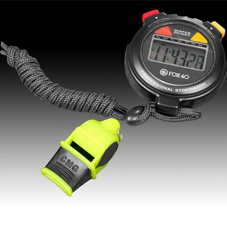 Kwik Goal Fox 40 Whistle & Stop Watch Pack