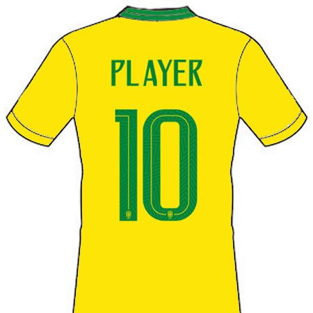 Brazil 2018 Adult Name Set Patch