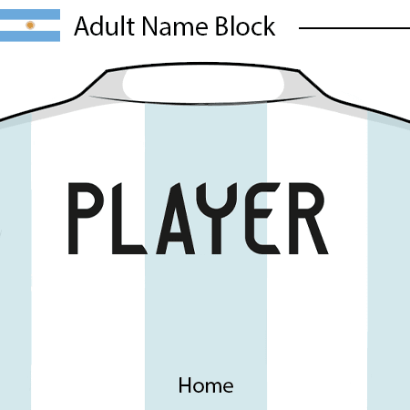 Argentina 2020 Adult Name Block
