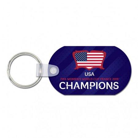 WinCraft USA Llavero de campeones de la Copa del Mundo 2019 - 2.5