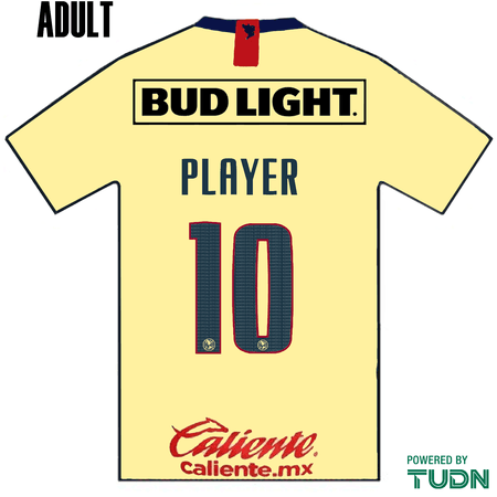 Club America 2019-20 Adult Name Set