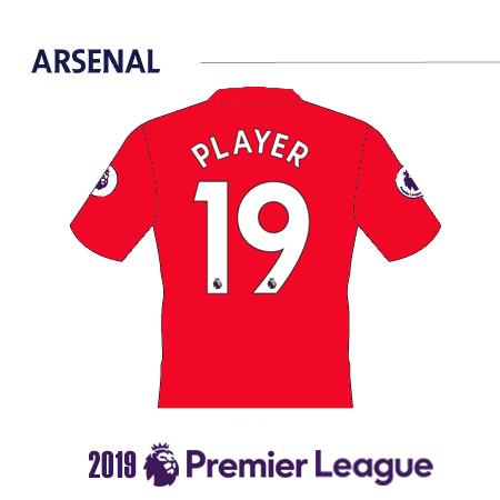Arsenal 2019 Name Set