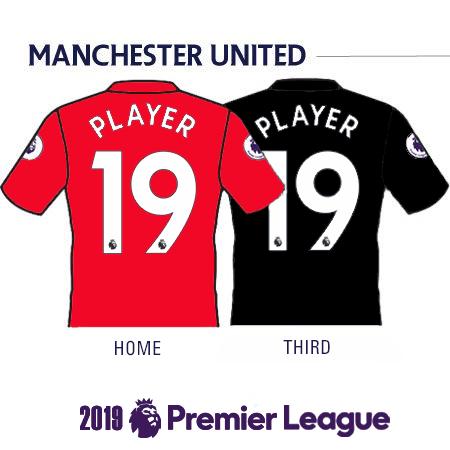 Manchester United 2019 Name Set