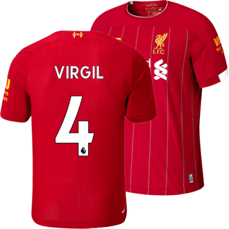 New Balance Liverpool Virgil Home 2019-20 Replica Jersey