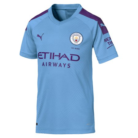 Puma 19-20 Man City Home Youth Jersey