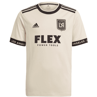 Adidas LAFC 2021 Youth Heart of Gold Away Stadium Jersey