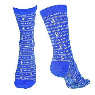 Real Madrid Text Crew Sock (Size 9-13)