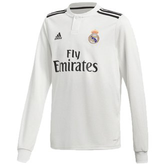adidas Real Madrid 2018-19 Home Youth LS Jersey