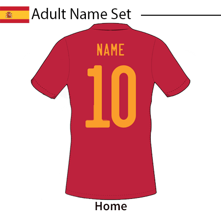 Spain 2020 Adult Name Set